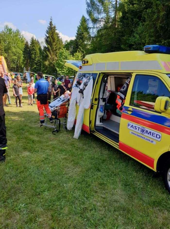 Piknik strażacki w Targoszowie – pokaz sprzętu